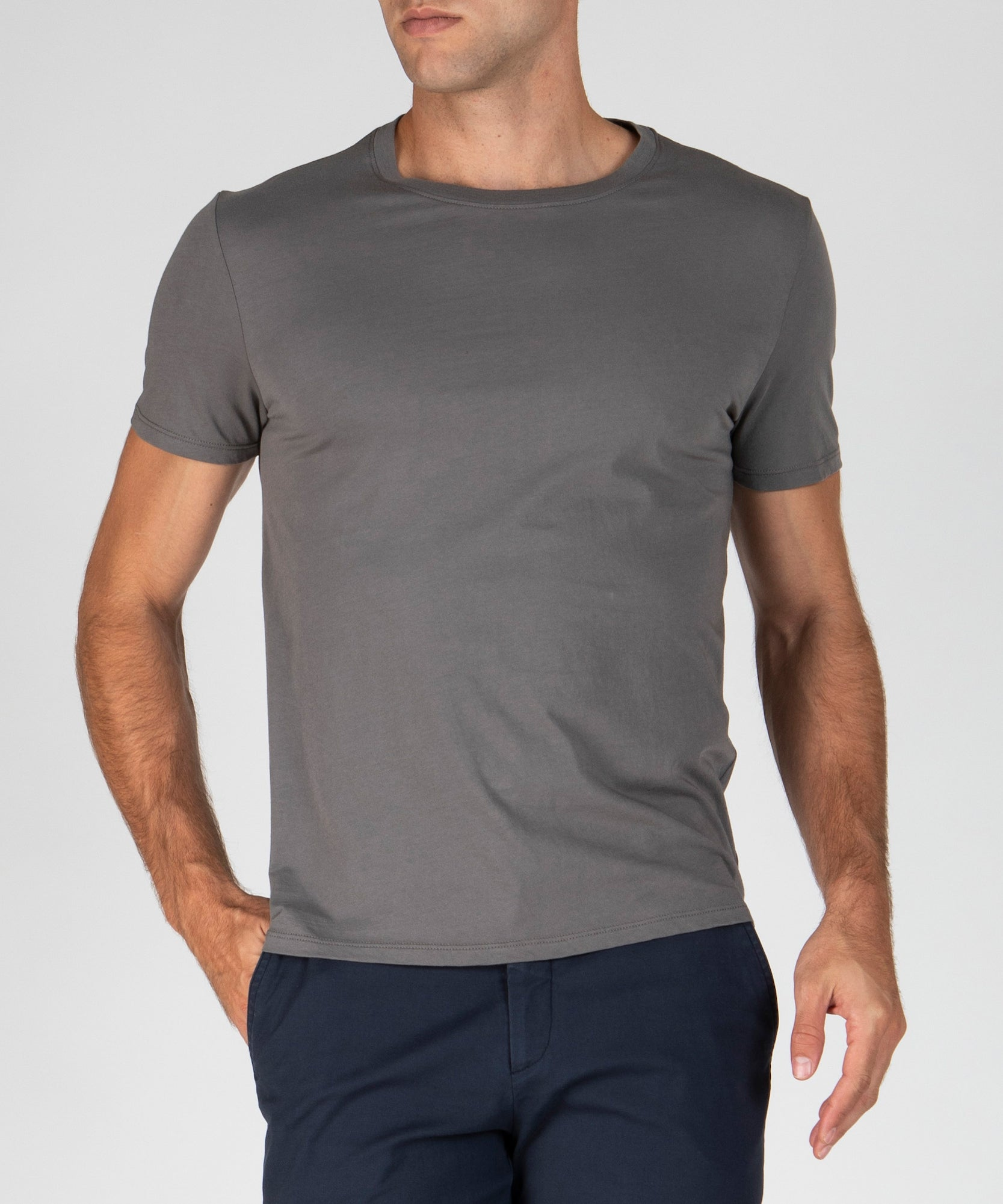 Granite Classic Jersey Crew Neck Tee - Men's Cotton Short Sleeve Tee by ATM Anthony Thomas Melillo