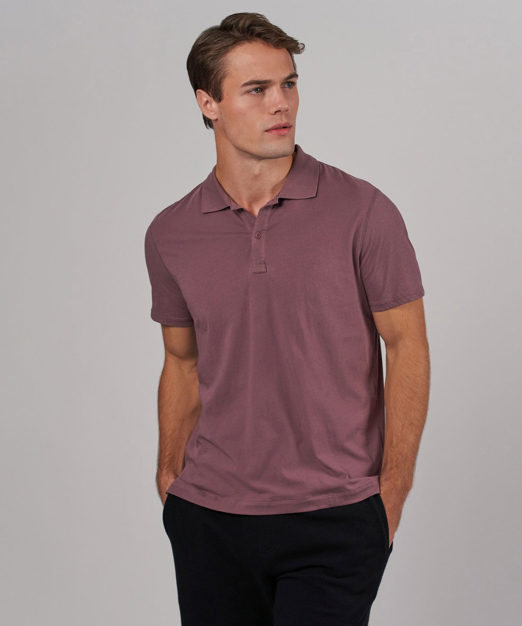 Grape Classic Jersey Polo - Mens Polo by ATM Anthony Thomas Melillo