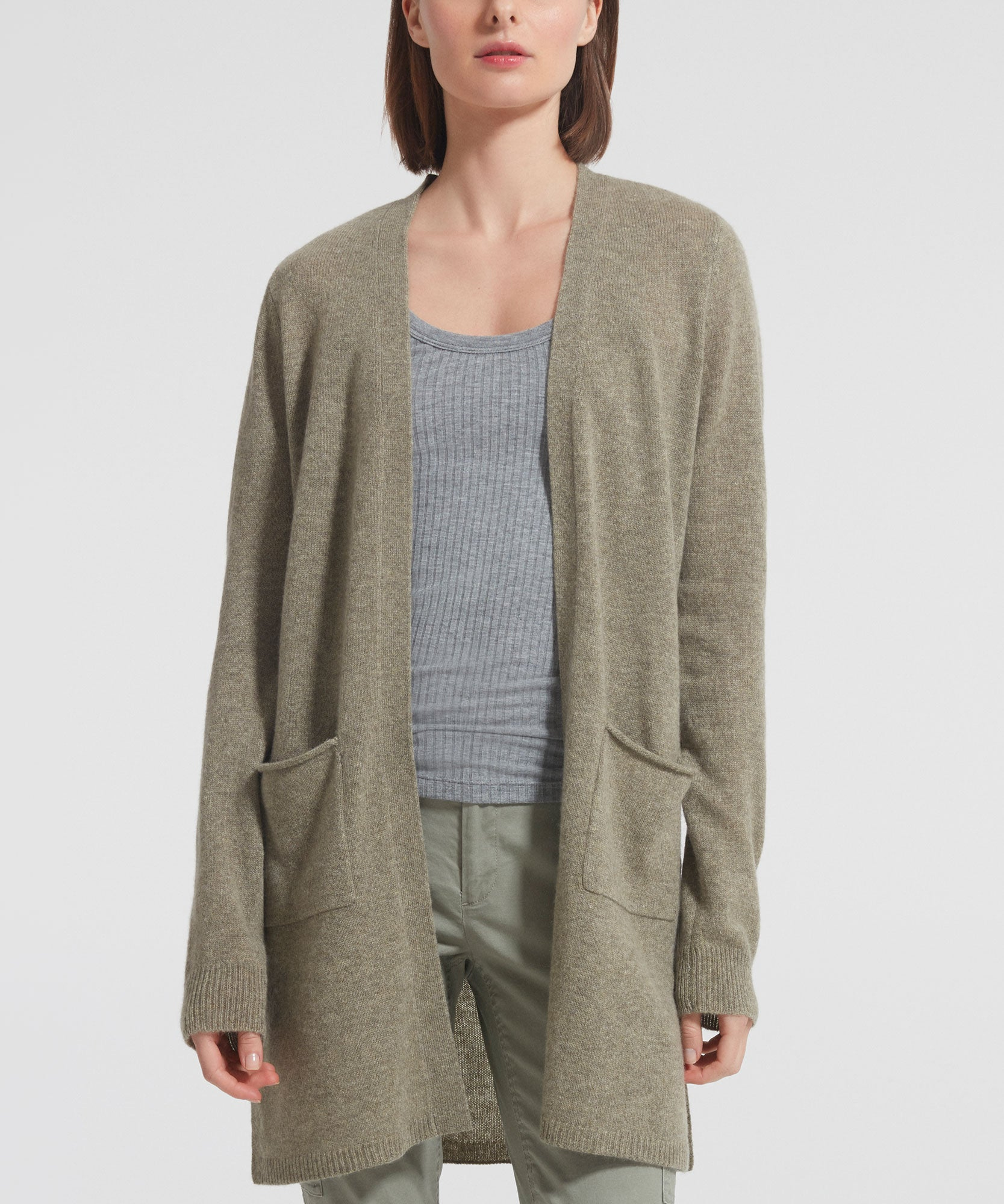 Grass Cashmere Cardigan - Women's Luxe Sweater by ATM Anthony Thomas Melillo