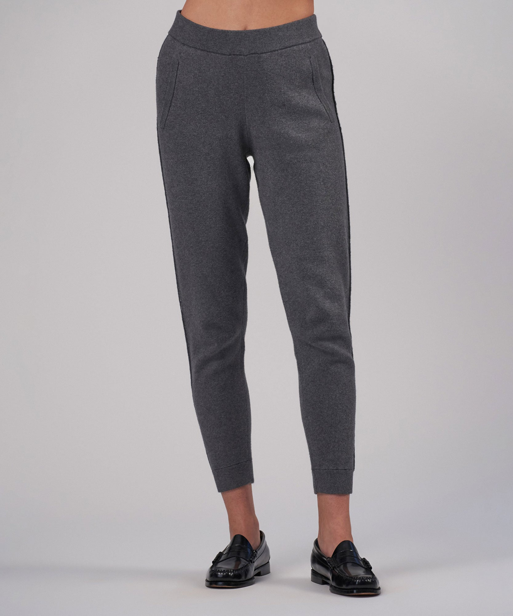 Heather Charcoal Cotton Cashmere Sweater Pant - Women's Pants by ATM Anthony Thomas Melillo
