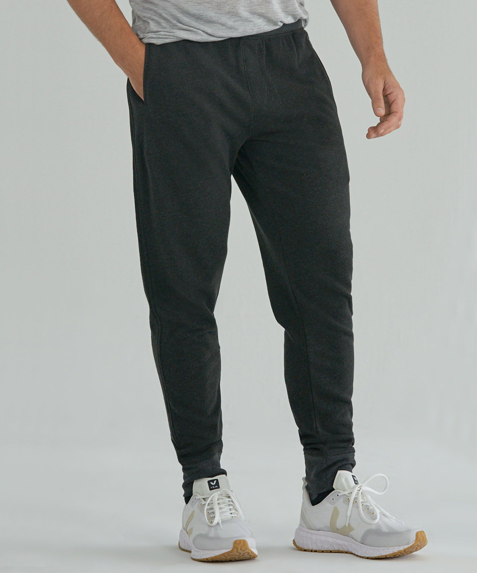 Heather Charcoal French Terry Sweatpants - Men's Luxe Loungewear by ATM Anthony Thomas Melillo