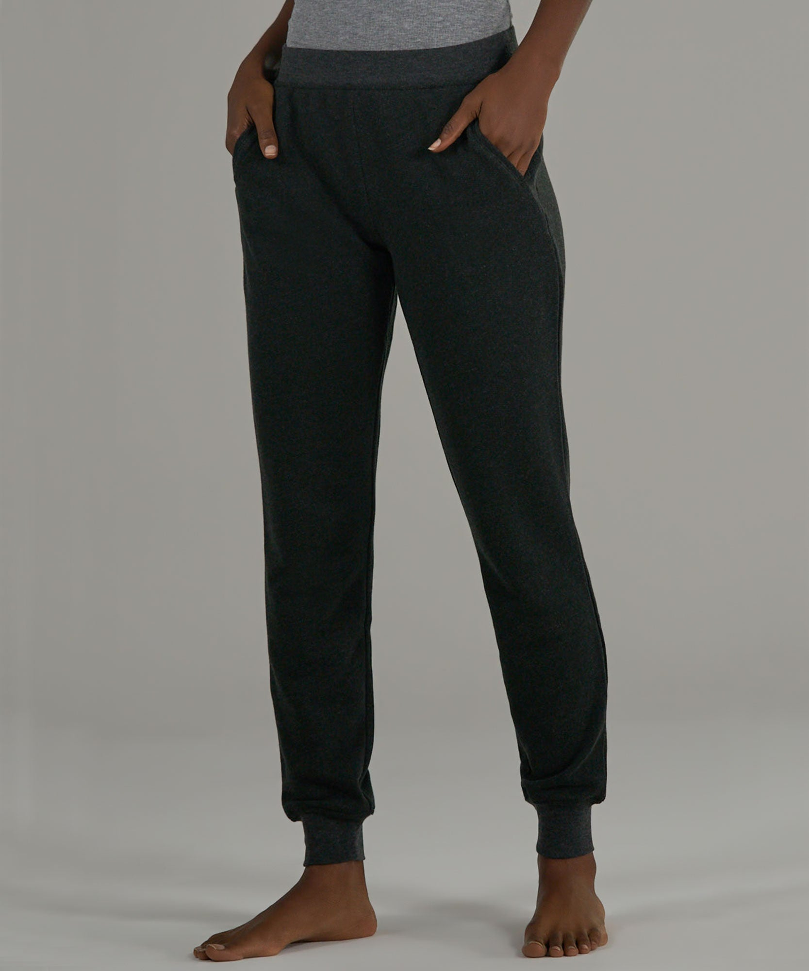 Heather Charcoal French Terry Sweatpants - Women's Luxe Loungewear by ATM Anthony Thomas Melillo