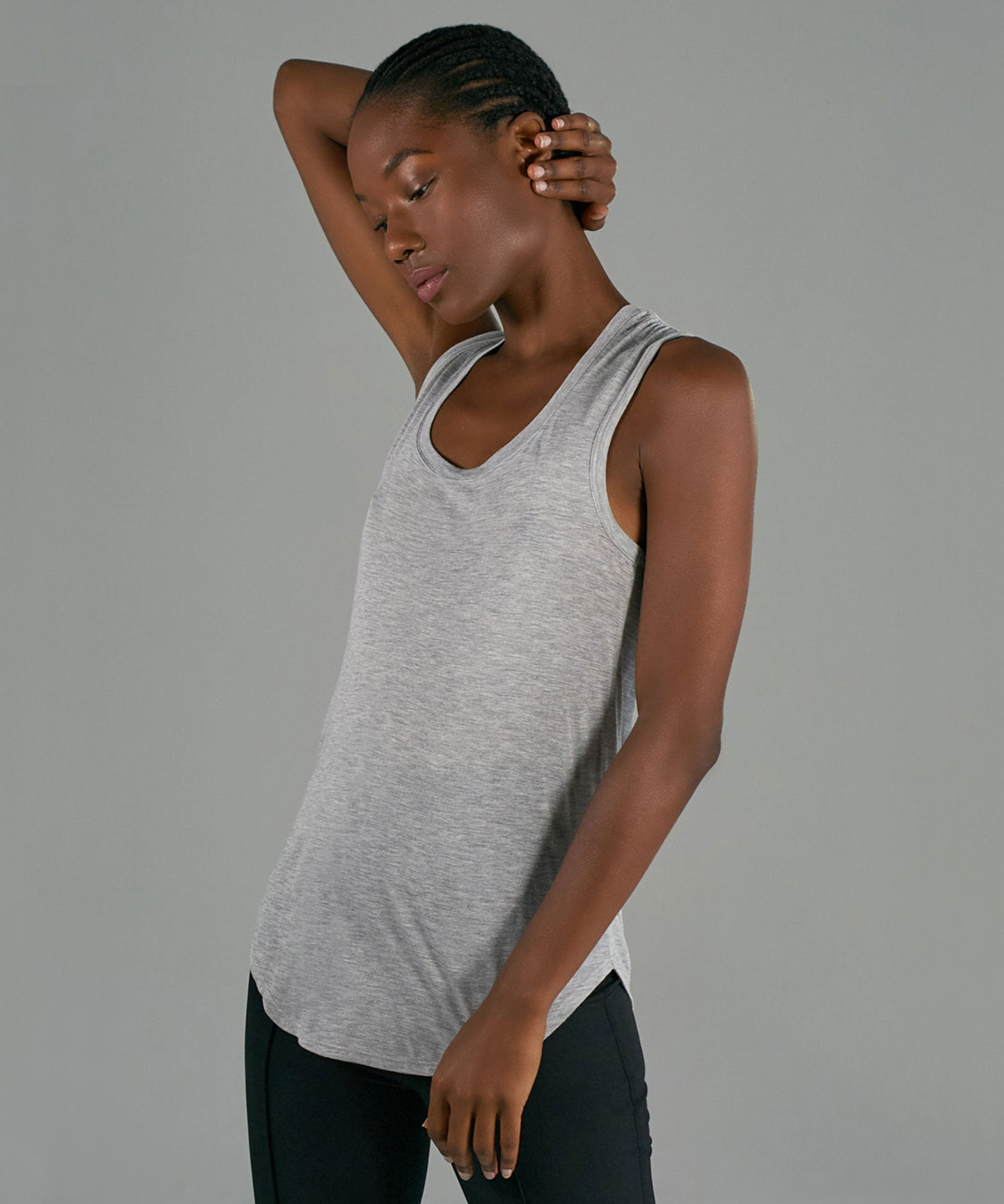 Heather Grey Modal Jersey Sweetheart Tank - Women's Jersey Tank Top by ATM Anthony Thomas Melillo