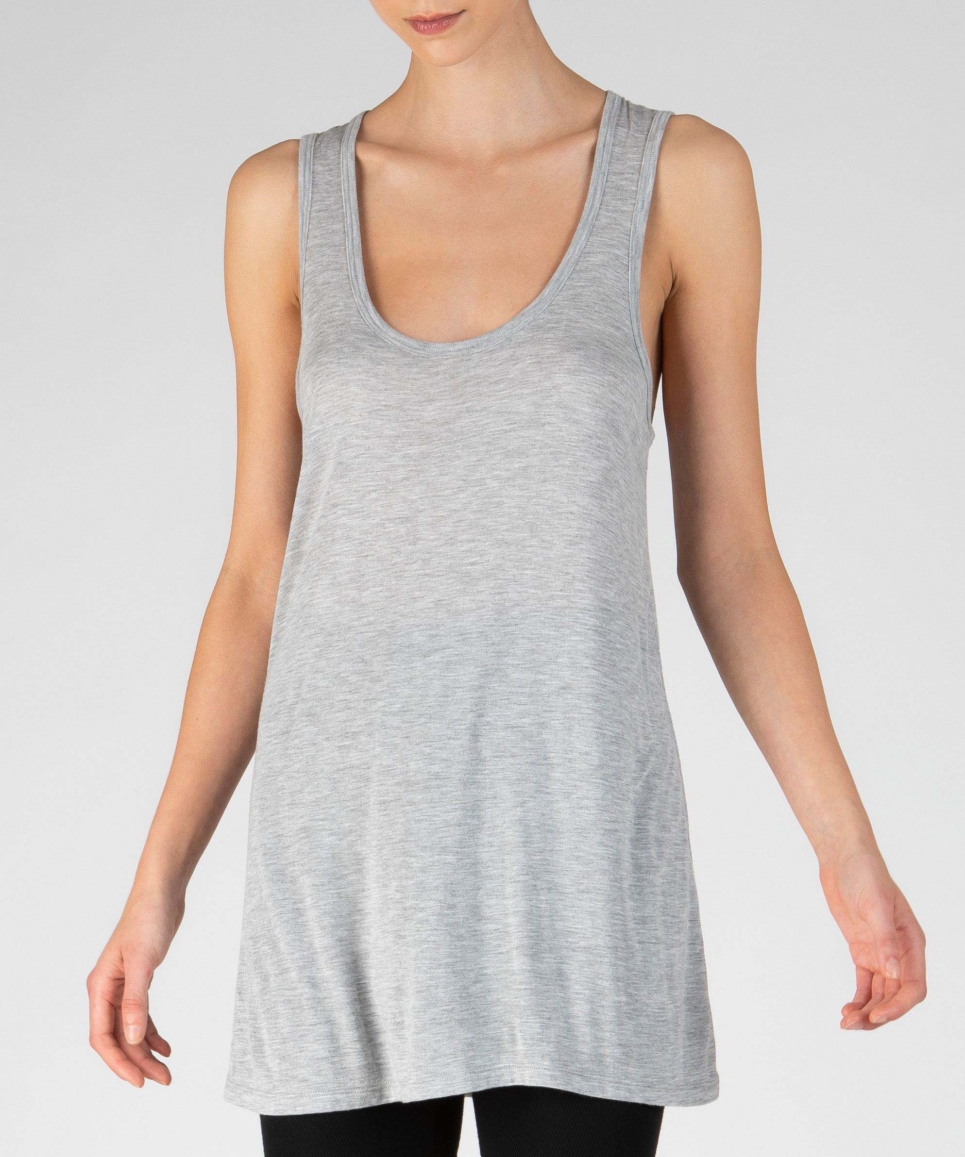 Heather Grey Modal Jersey Tank Top - Women's Jersey Tank Top by ATM Anthony Thomas Melillo