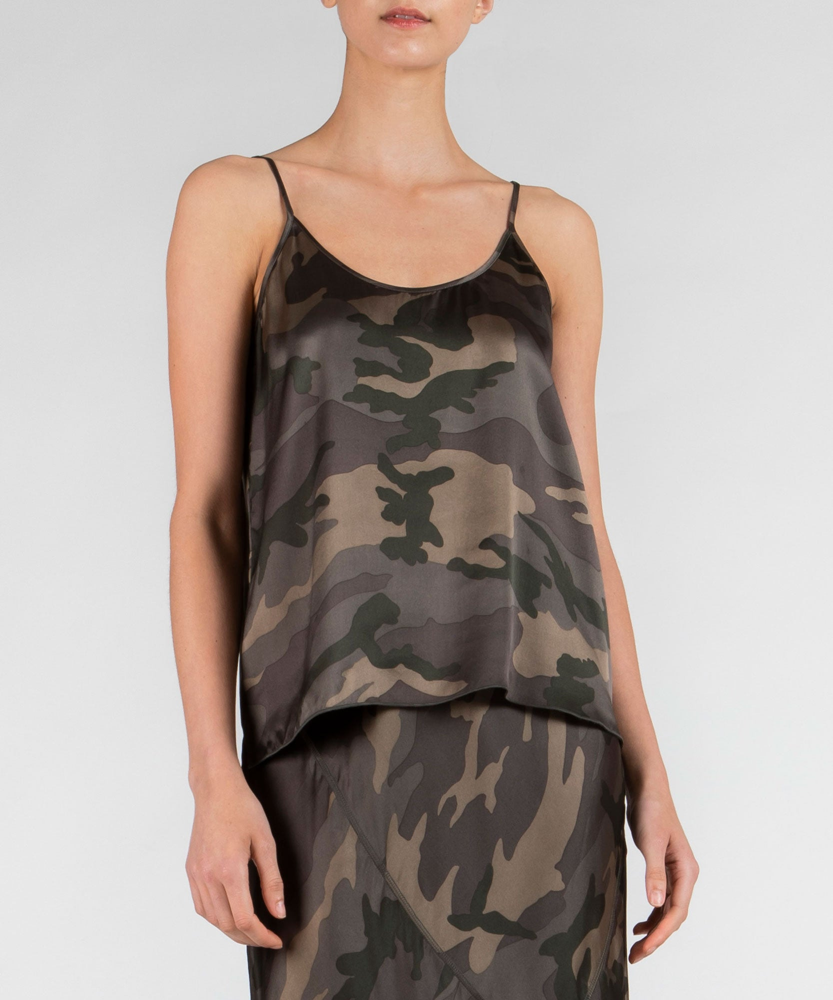 Jungle Camo Silk Cami - Women's Silk Top by ATM Anthony Thomas Melillo