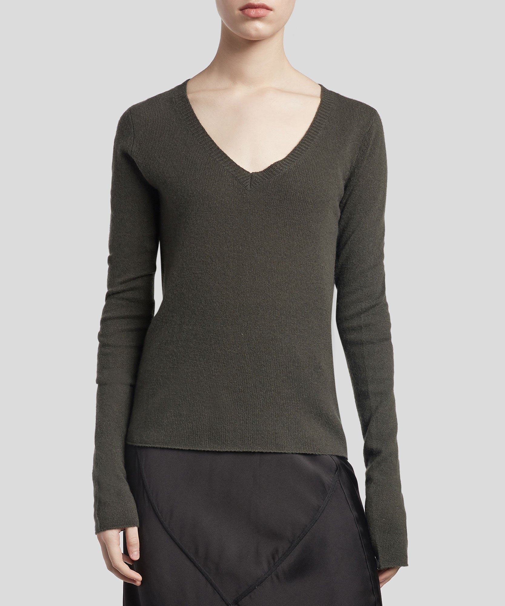 Jungle Cashmere V-Neck Sweater - Women's Luxe Sweater by ATM Anthony Thomas Melillo