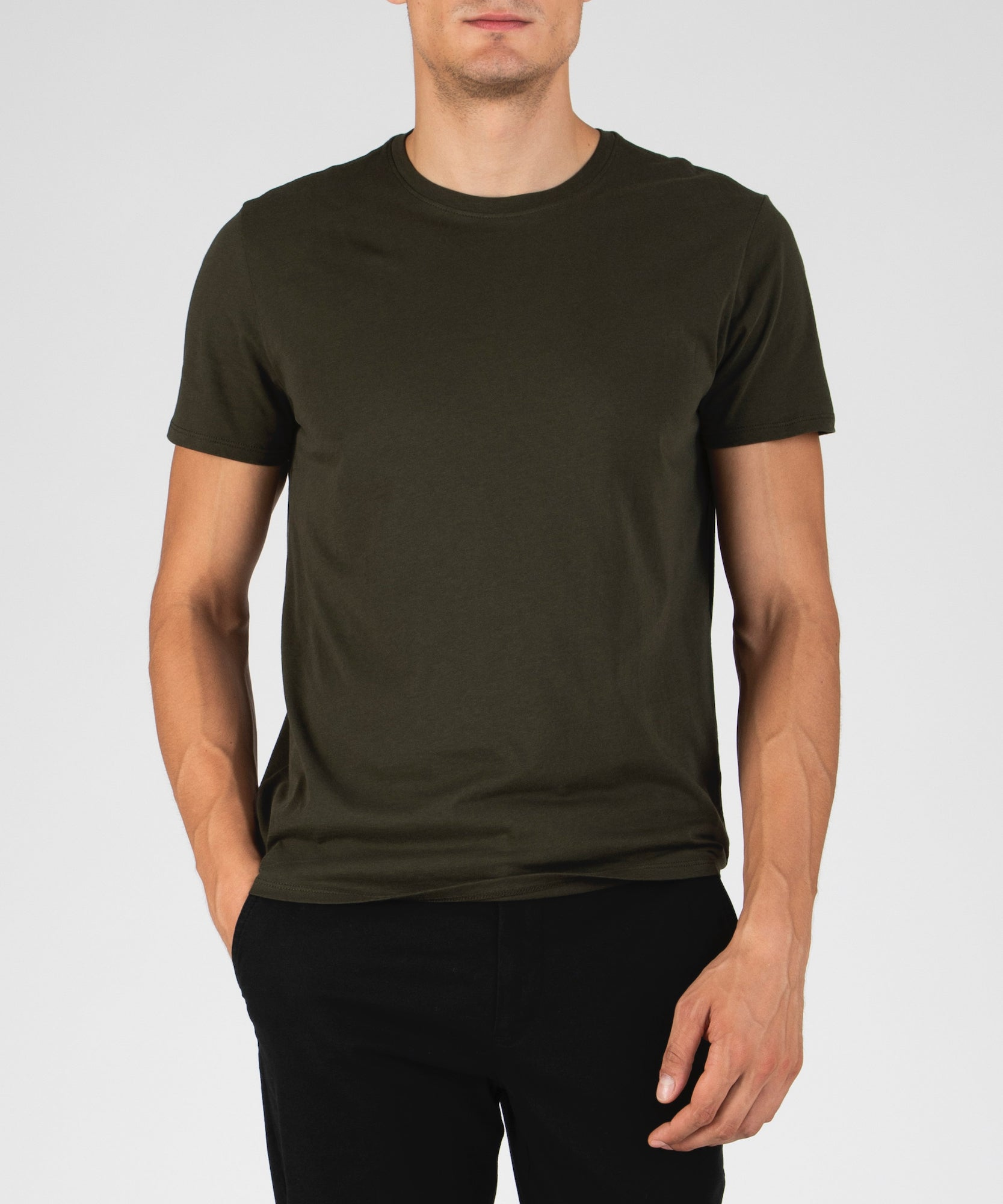 Jungle Green Classic Jersey Crew Neck Tee - Men's Cotton Short Sleeve T-shirt by ATM Anthony Thomas Melillo