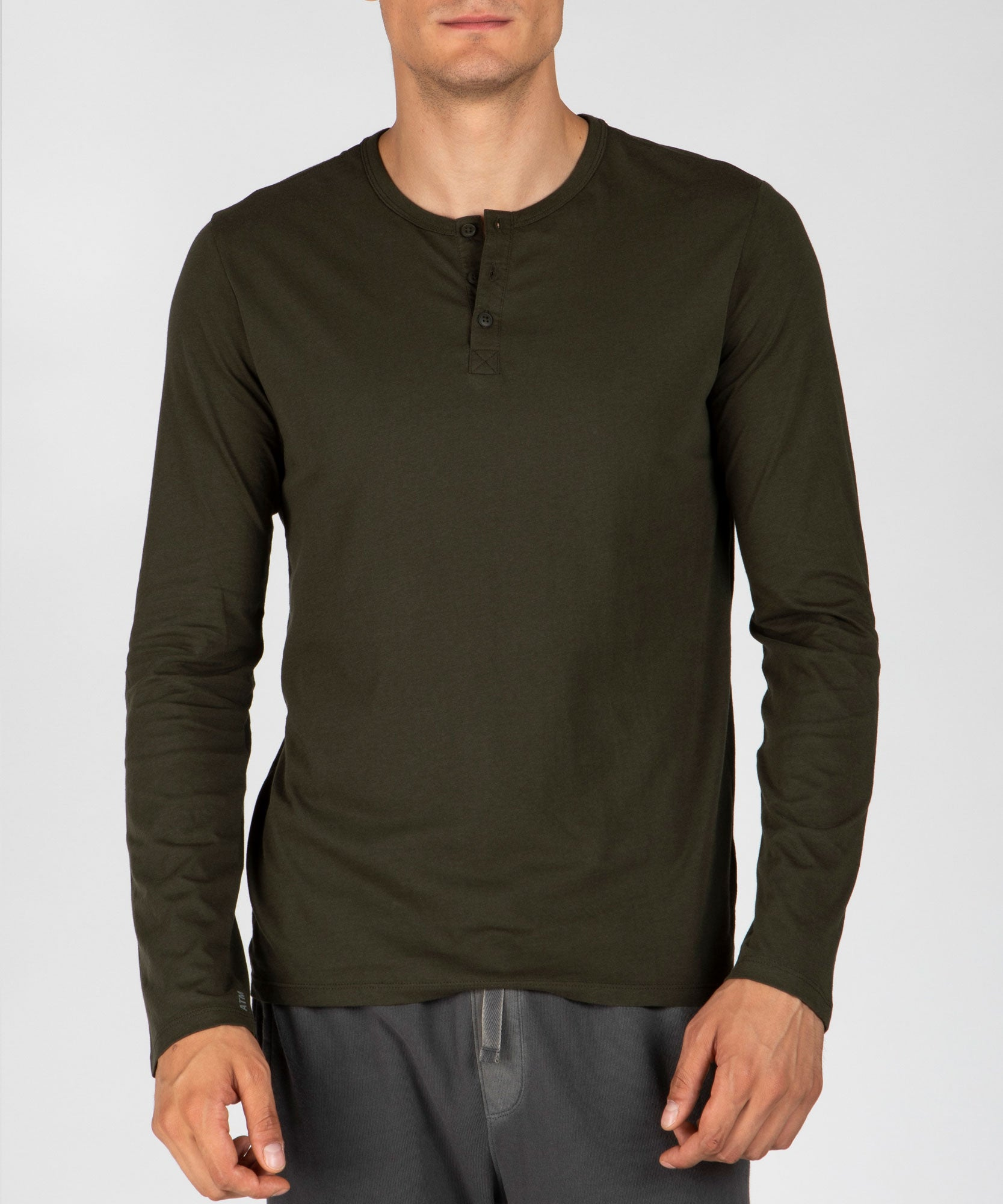 Jungle Classic Jersey Henley - Men's Cotton Long Sleeve T-shirt by ATM Anthony Thomas Melillo