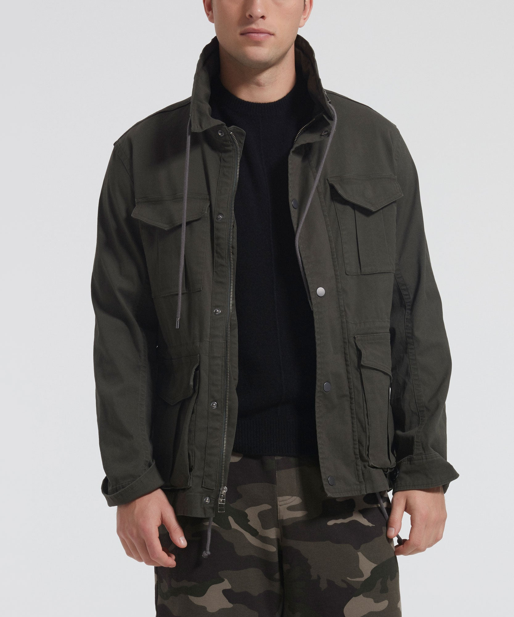 Jungle Stretch Cotton Field Jacket - Men's Luxe Jacket by ATM Anthony Thomas Melillo
