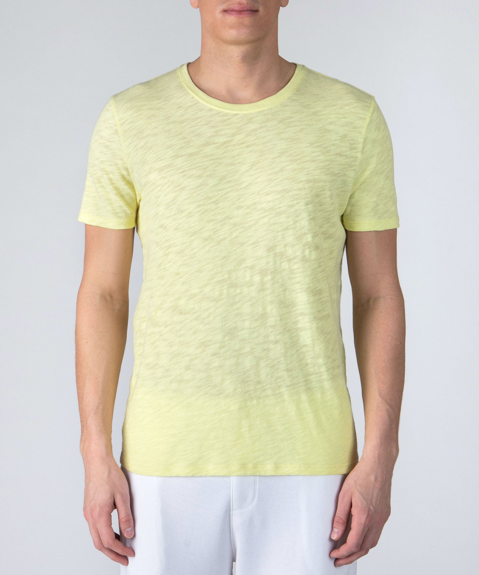 Lemon Twist Slub Jersey Crew Neck Tee - Men's Cotton Short Sleeve Tee by ATM Anthony Thomas Melillo