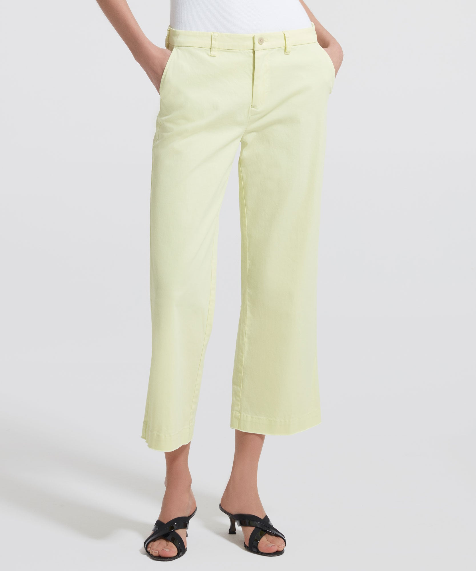 Lemon Cropped Boyfriend Garment Wash Pants - Women's Casual Pants by ATM Anthony Thomas Melillo