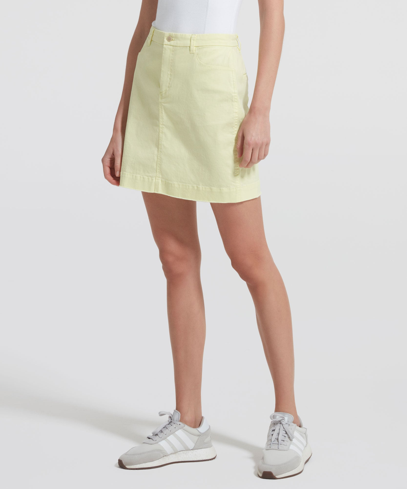 Lemon Stretch Cotton Mini Skirt - Women's Cotton Mini Skirt by ATM Anthony Thomas Melillo