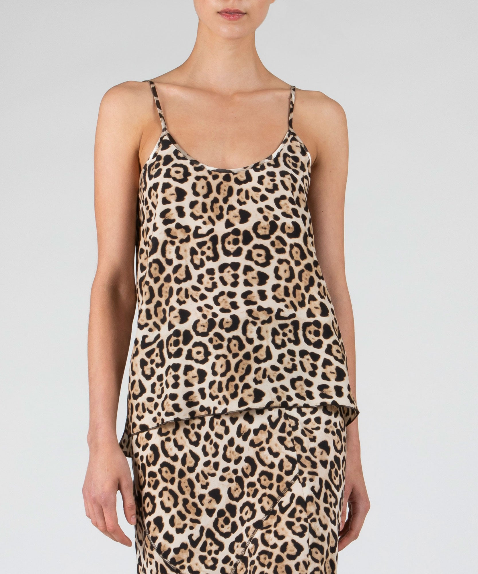 Leopard Silk Cami - Women's Silk Top by ATM Anthony Thomas Melillo