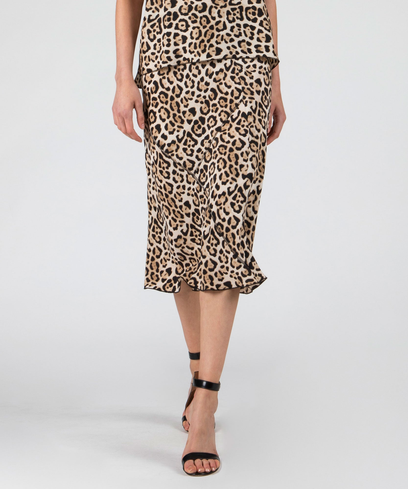 Leopard Silk Skirt - Women's Skirt by ATM Anthony Thomas Melillo