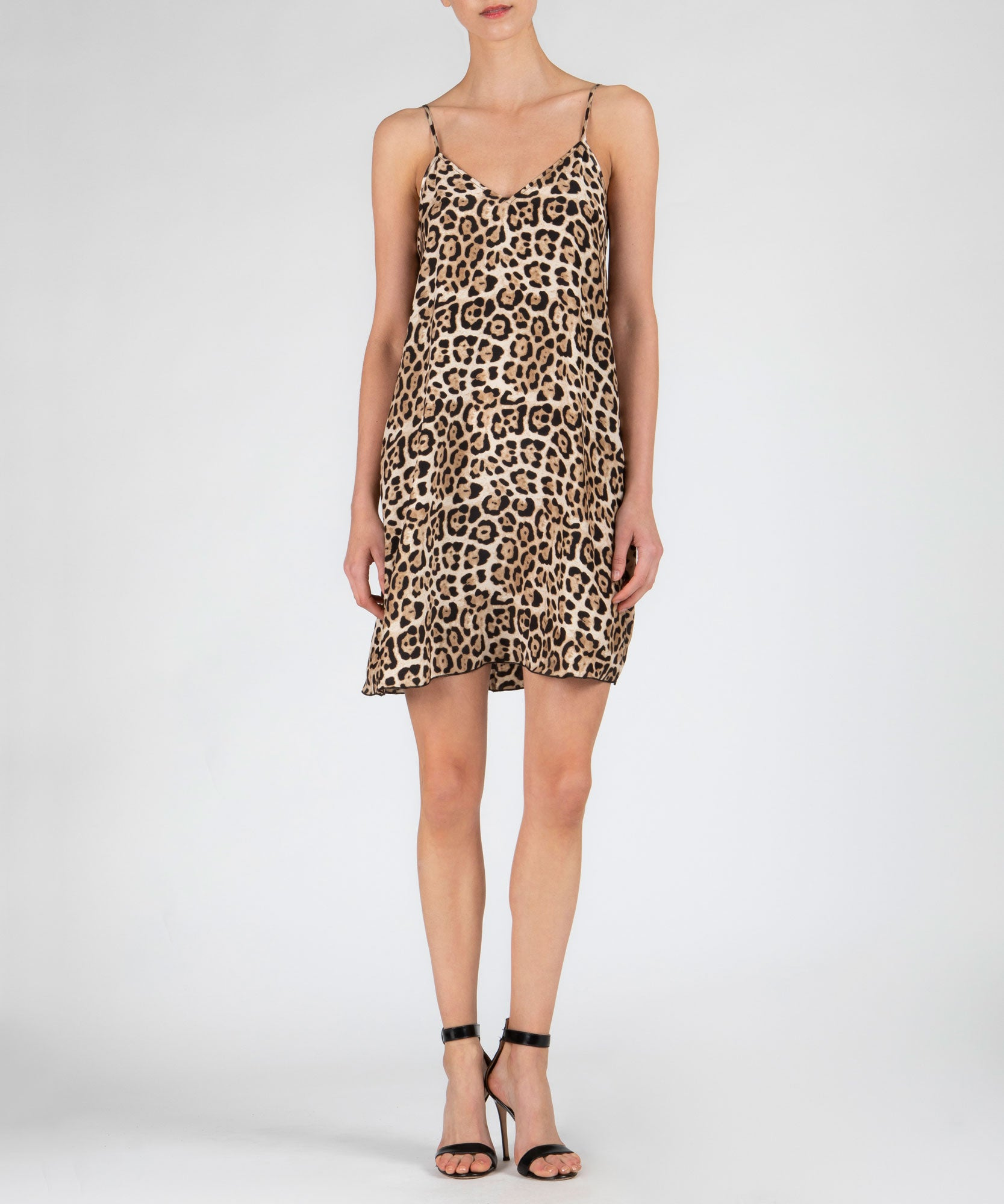 Leopard Silk Slip Dress - Women's Silk Dress by ATM Anthony Thomas Melillo