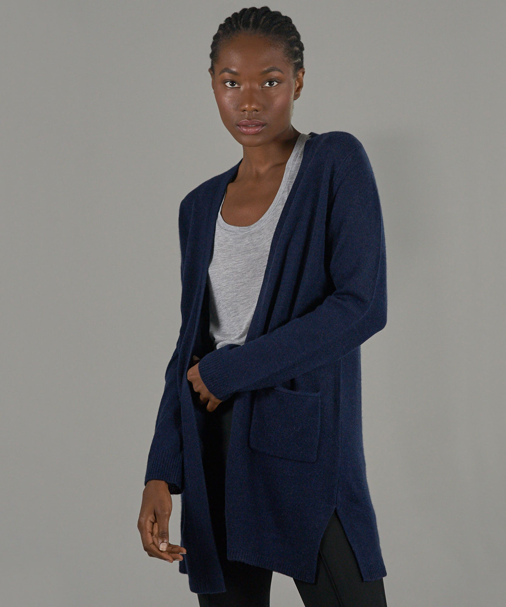 Midnight Cashmere Cardigan - Women's Luxe Sweater by ATM Anthony Thomas Melillo
