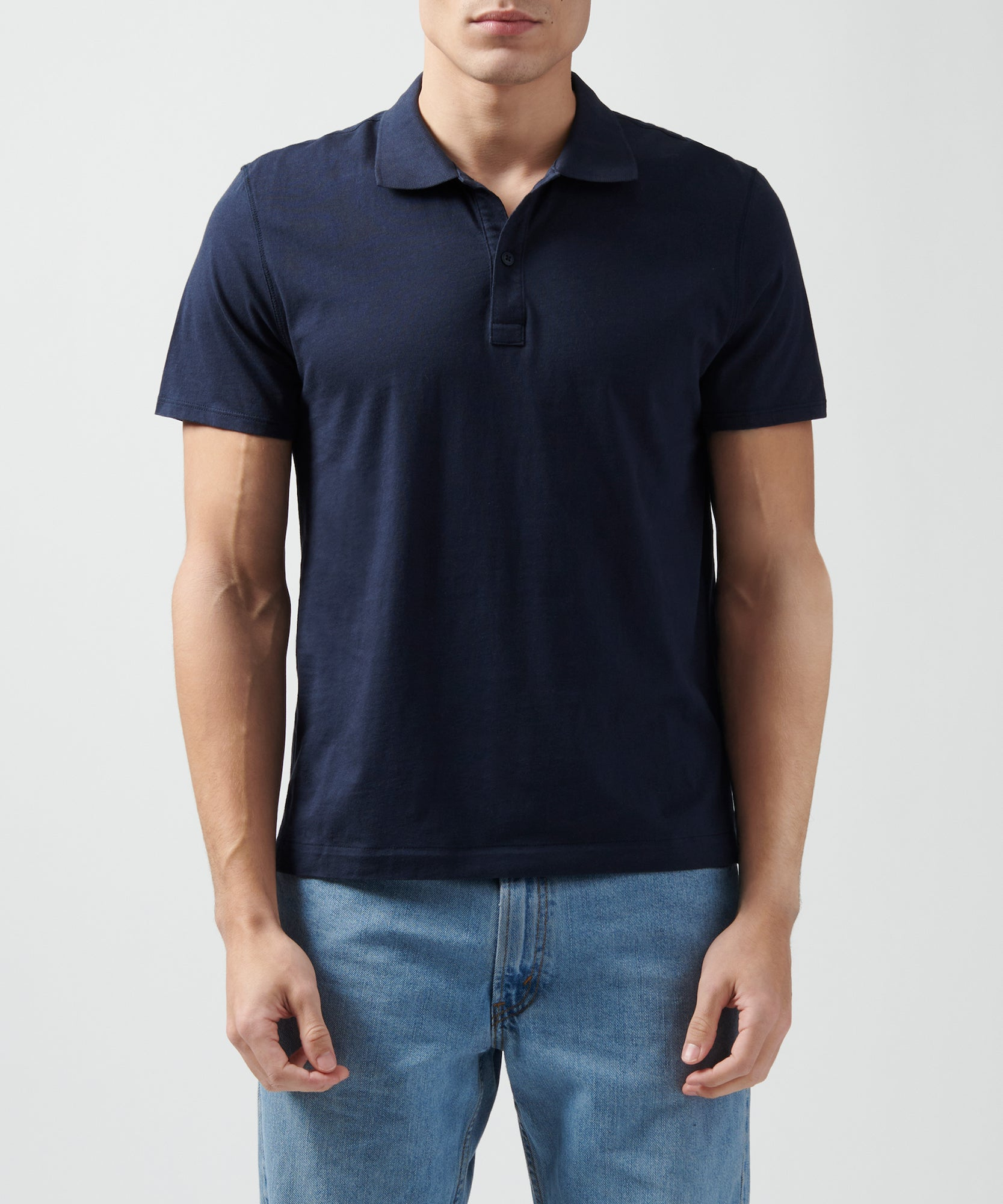 Midnight Classic Jersey Polo - Men's Polo Shirt by ATM Anthony Thomas Melillo