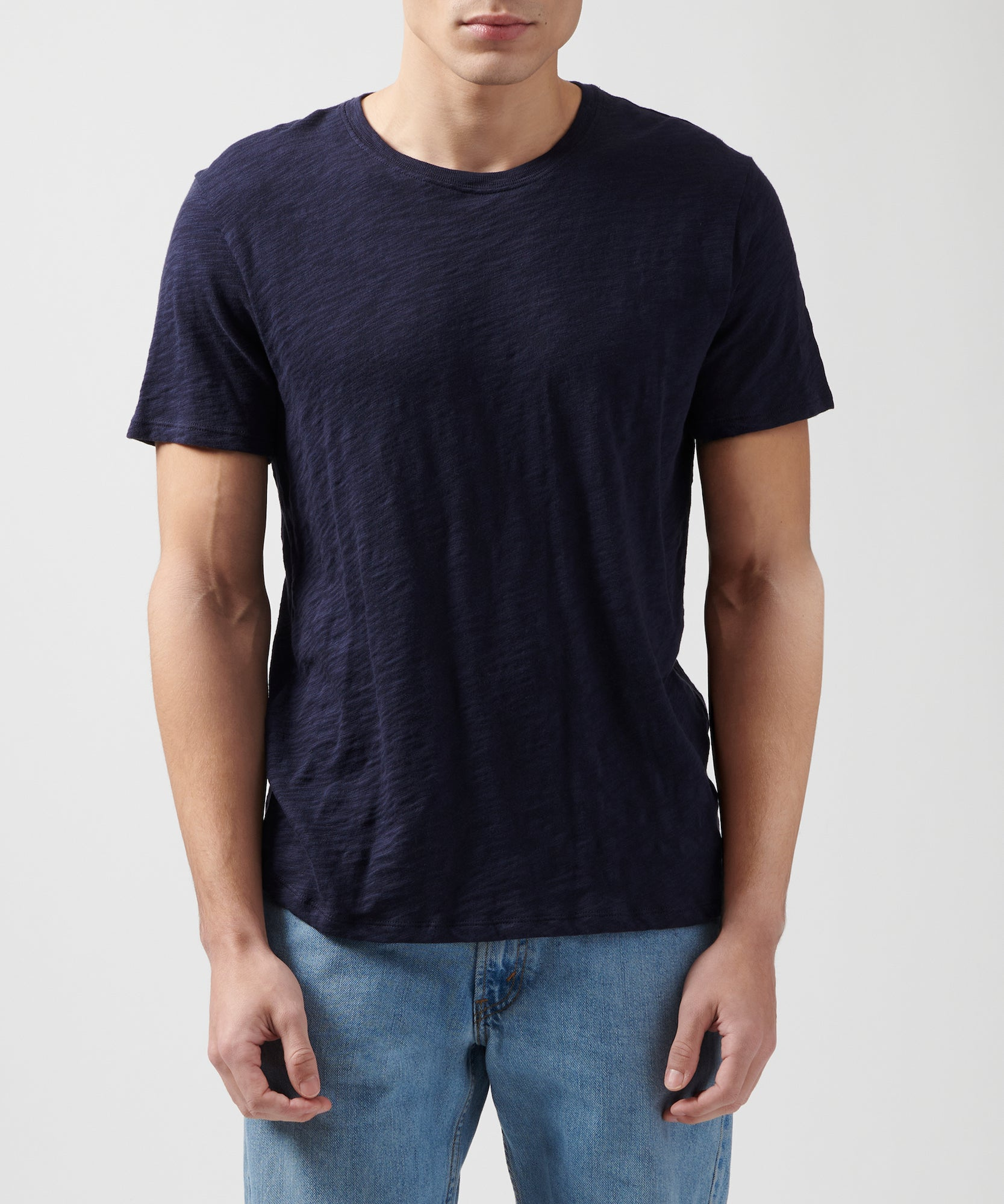 Midnight Slub Jersey Crew Neck Tee - Men's Cotton Short Sleeve Tee by ATM Anthony Thomas Melillo