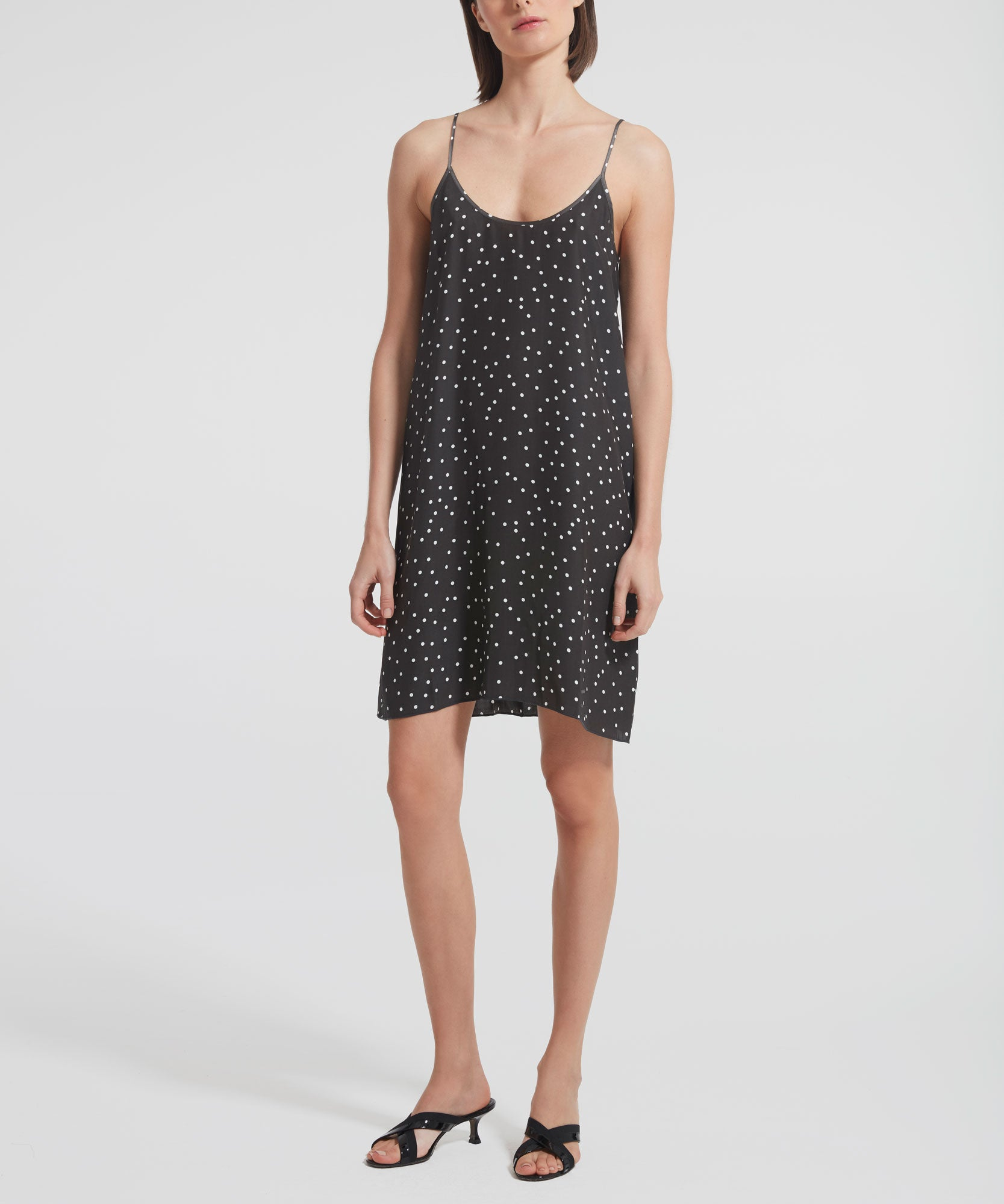 Pavement Polka Dot Silk Cami Dress - Women's Casual Dress by ATM Anthony Thomas Melillo
