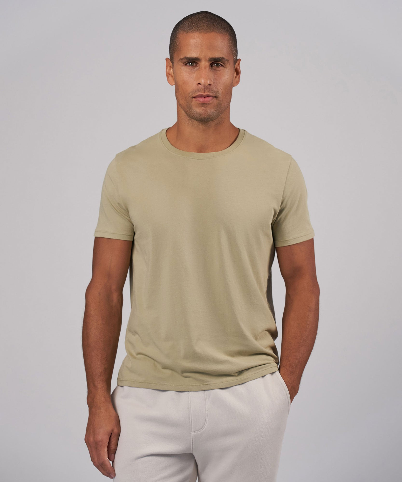 Soft Army Jersey Crew Neck Tee - Men's Short Sleeve T-Shirt by ATM Anthony Thomas Melillo