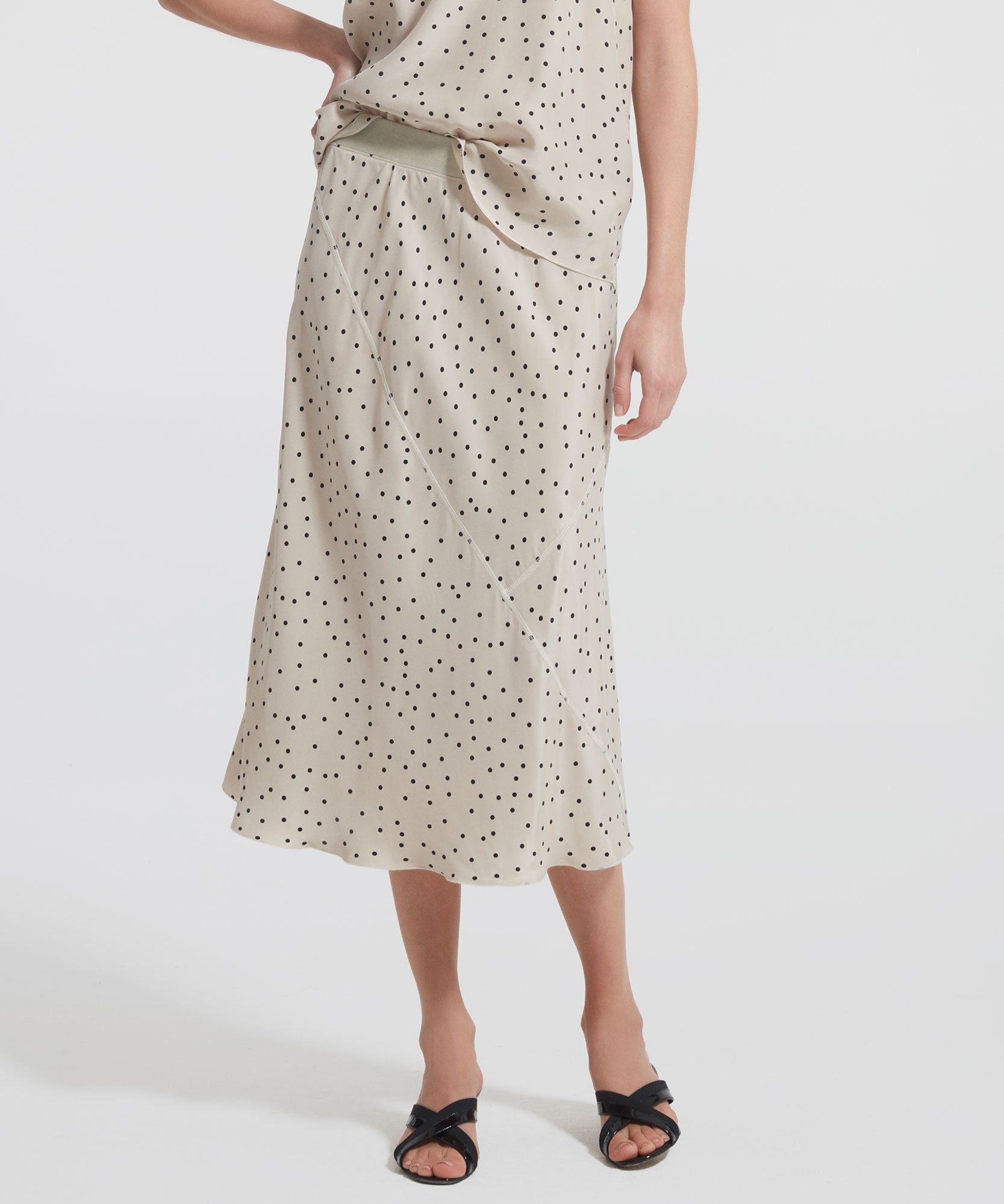 Soil Polka Dot Silk Skirt - Women's Skirt by ATM Anthony Thomas Melillo