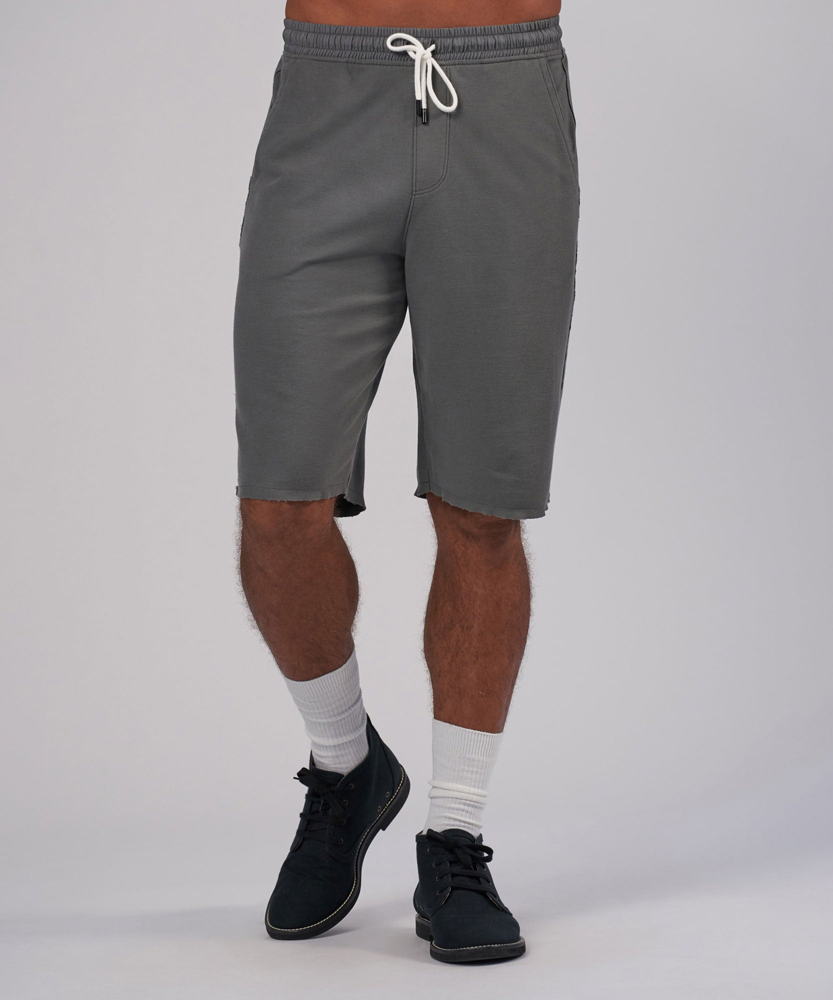 Storm Pique Pull-On Shorts - Men's Luxe Loungewear by ATM Anthony Thomas Melillo
