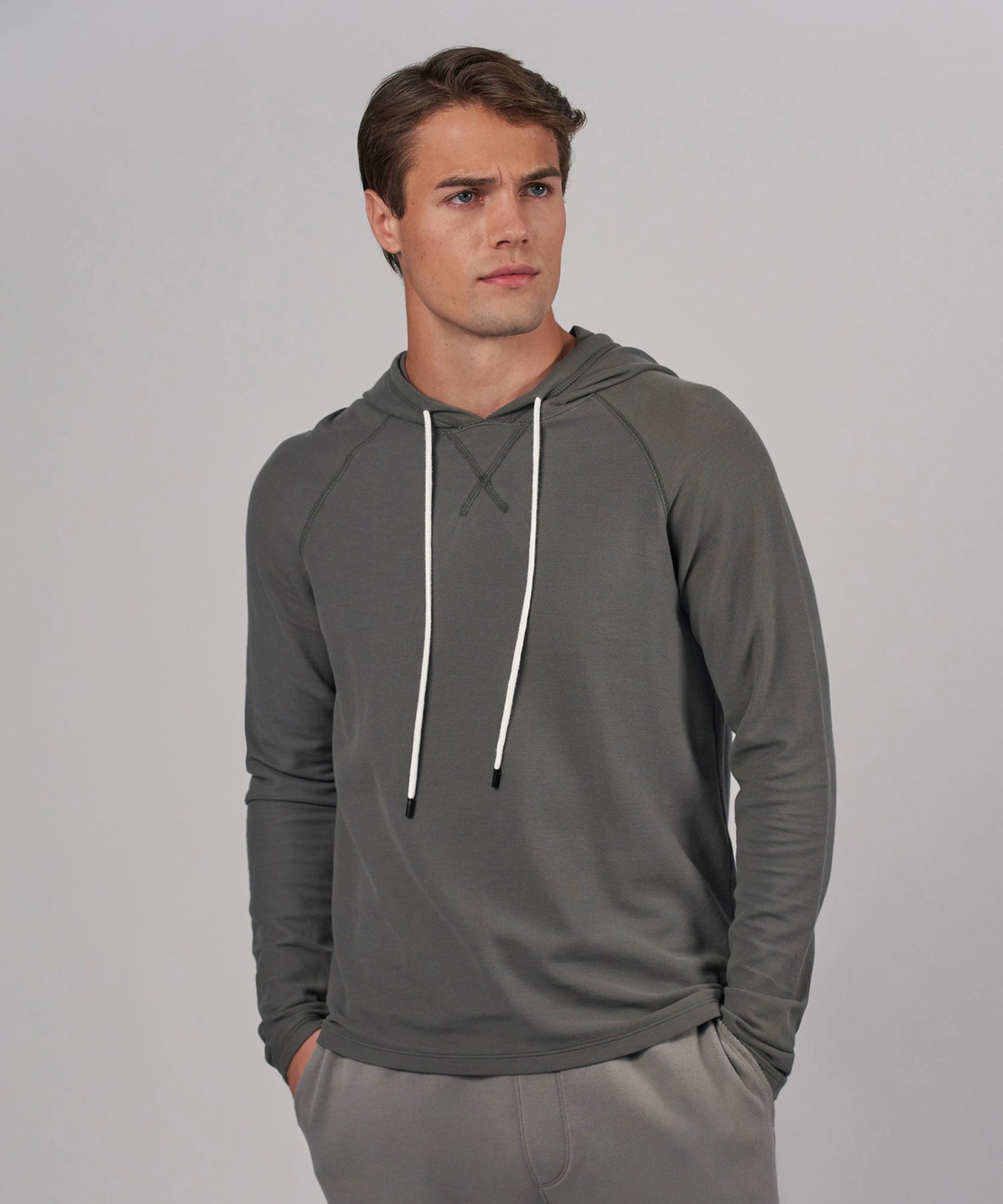 Storm Pique Pullover Hoodie - Men's Sweatshirt by ATM Anthony Thomas Melillo