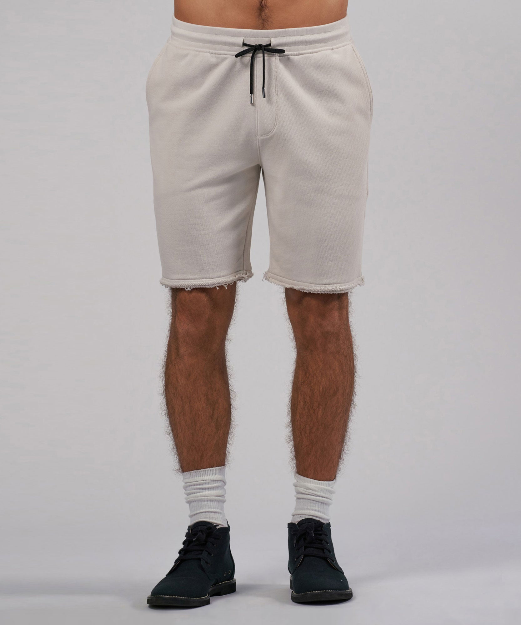 Tan French Terry Pull-On Shorts - Mens Shorts by ATM Anthony THomas Melillo