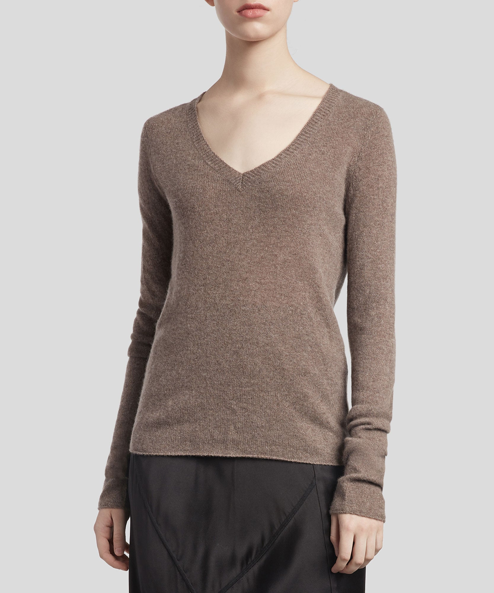 Truffle Cashmere V-Neck Sweater - Women's Luxe Sweater by ATM Anthony Thomas Melillo