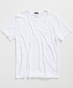 White Slub Jersey Crew Neck Tee - Men's Cotton Short Sleeve Tee by ATM Anthony Thomas Melillo