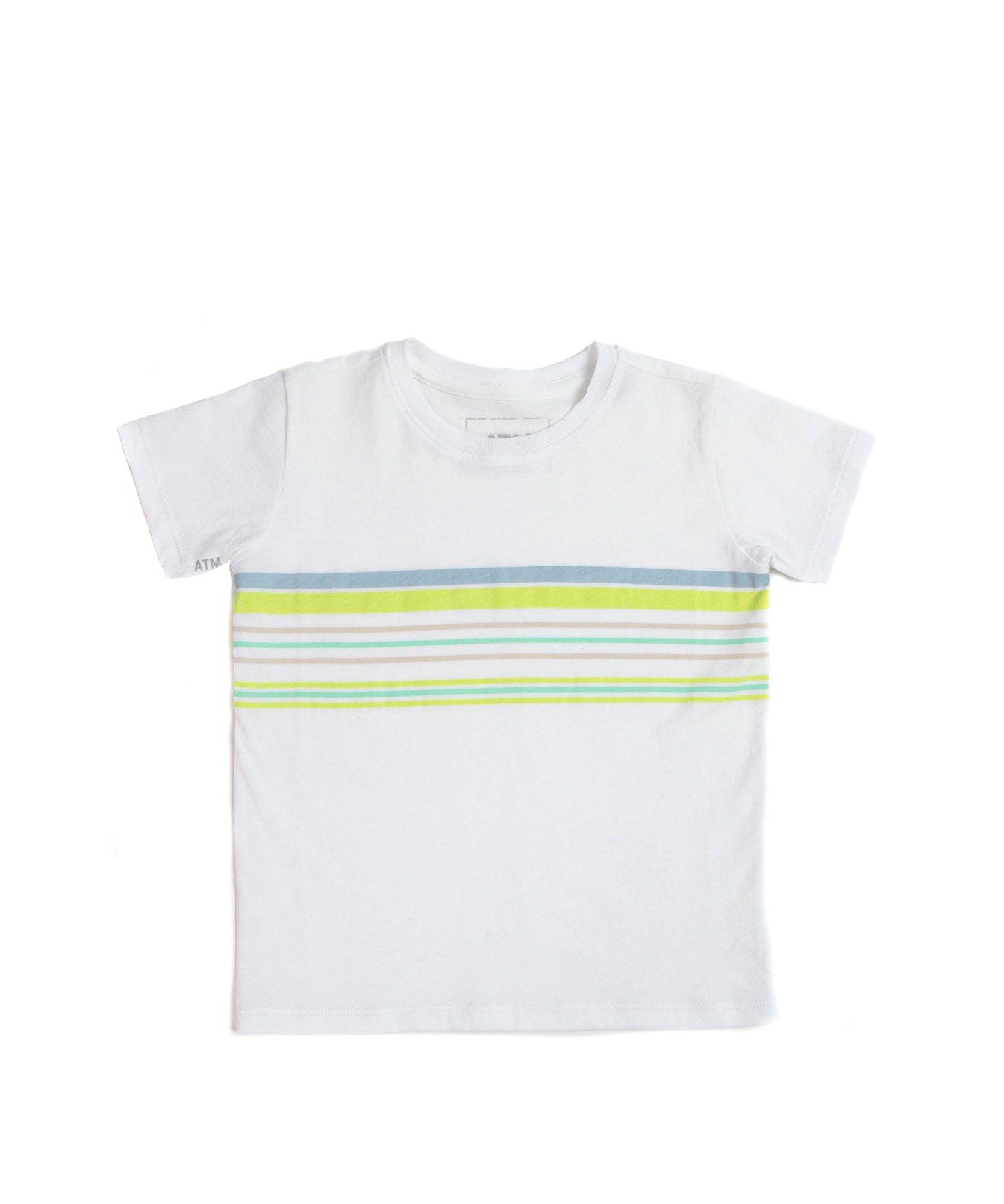 White Surf Stripe Kids Classic Jersey Short Sleeve Tee - Kid's Cotton Short Sleeve Tee by ATM Anthony Thomas Melillo