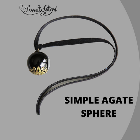 Black Agate Sphere Jewelry-SweetSatya