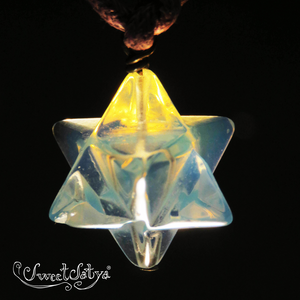 Opalite Merkabah Sacred Geometry Necklace - SweetSatya