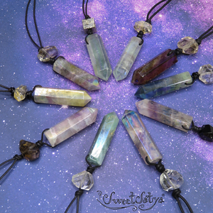 Fluorite Crystal Wand Jewelry - SweetSatya