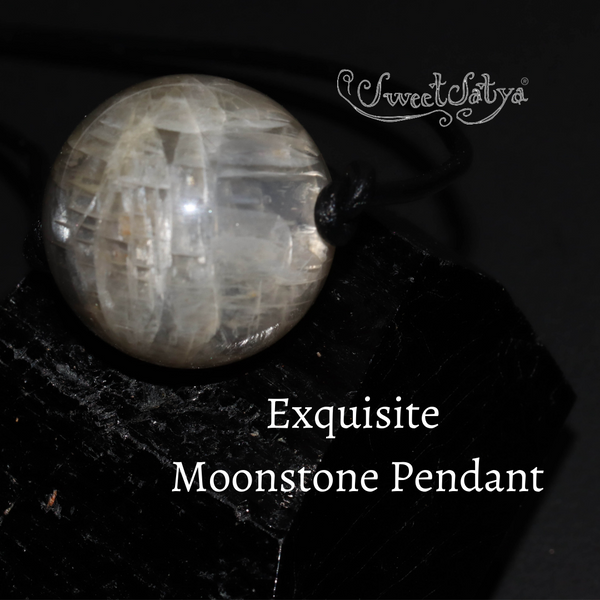 Black Moonstone Sphere Pendant SweetSatya