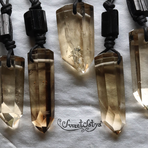 Smoky Quartz-Crystal Necklace SweetSatya Crystal Jewelry Store