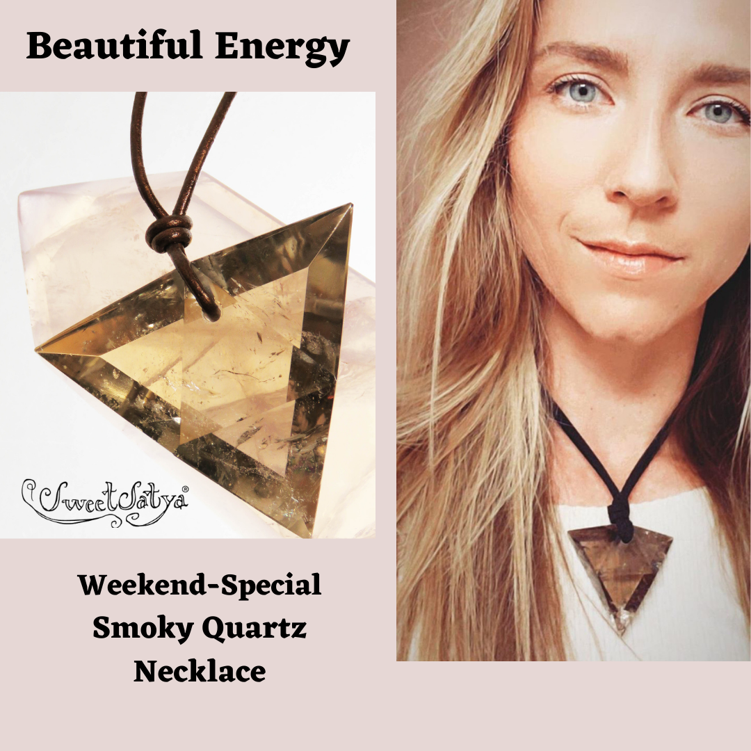 Smoky Quartz Triangular Pendant - SweetSatya