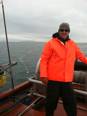 Clint on the boat, F/V Aghileen Kenai Red Fish Company