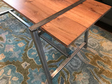 Our A-15 table with the black walnut boards. - worngrainworks