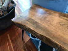Large Live Edge Side Table - worngrainworks