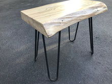 New spalted oak side table with new hairpin legs.