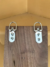 Vertical hanger with three antique style double hooks. - worngrainworks