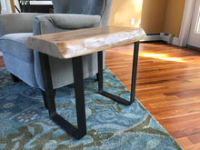 Thick Live Edge Cherry Side Table. - worngrainworks