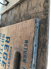 Large recycled barn board and soda crate hanger. - worngrainworks