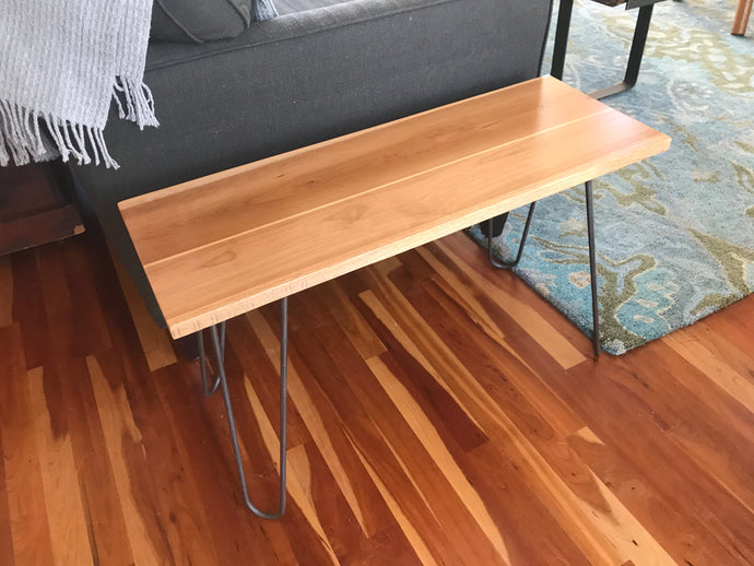 Beautiful Cherry Pine & Oak Side Table - worngrainworks
