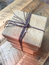 Handcrafted Coasters Crafted from Oak & Mahogany (Set of 6) - worngrainworks