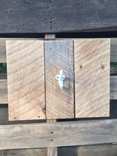 Single White Acorn Hook Hanger on Reclaimed Barn Board - worngrainworks