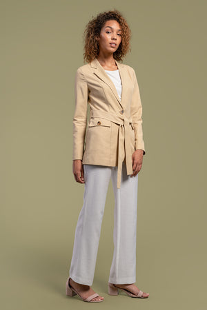 AGA | Carmen Structured Blazer With Obi Belt Myrobalan
