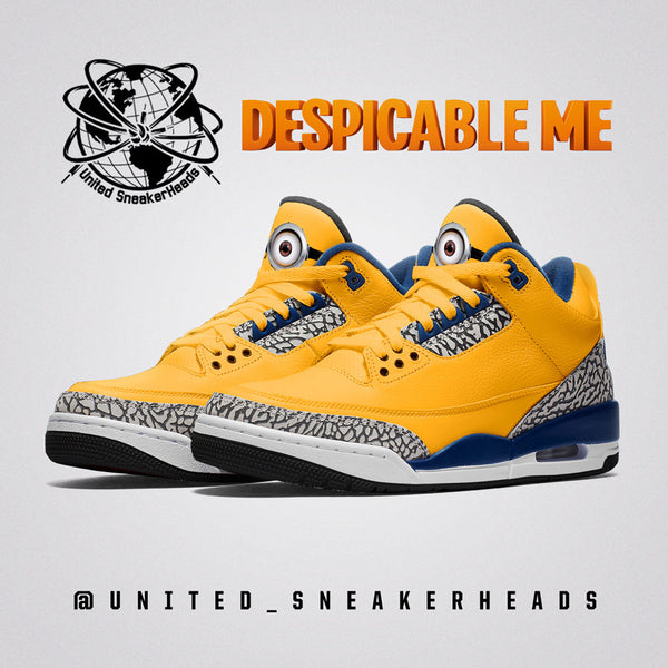 Air Jordan 3 Minion Sneakers : Sneaker Concept Release Dates