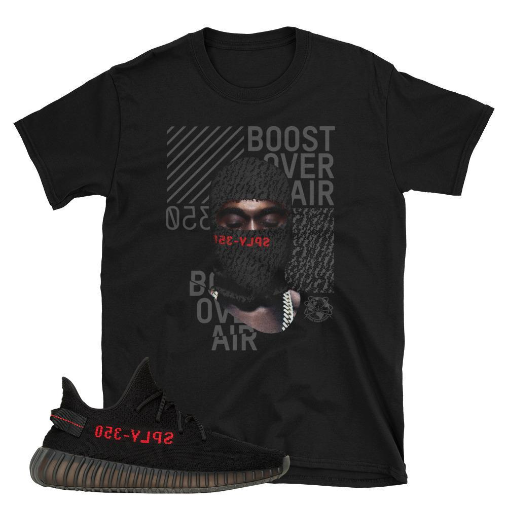 Yeezy Boost Shirts, Yeezy Boost 350 Tees match Core Red Yeezy Boost Sneakers
